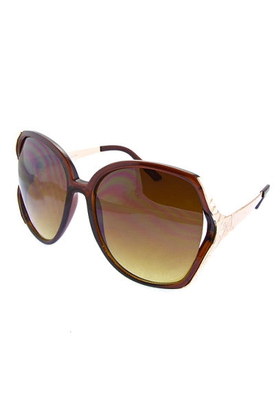oversized butterfly sunglasses brown