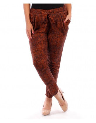 Plus Size Skinny Pant Jeggings - Red Wine