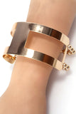 stretch cutout cuff bracelet gold