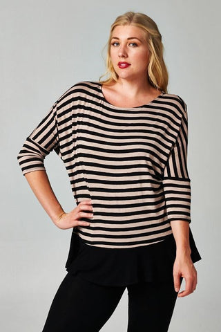 Plus Size Long Sleeve Tassel Knit Top
