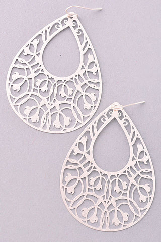 Open-Ended Silver Hoop Earrings with Rhinestones