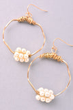 Wired Hoop Earring With Pearl Detail - DeSarti.com