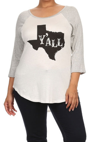 "Plus Size ""I Woke Up Like This"" Graphic Tee"