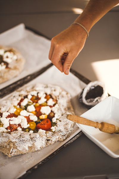 Rye tomato Galette with poppy seeds