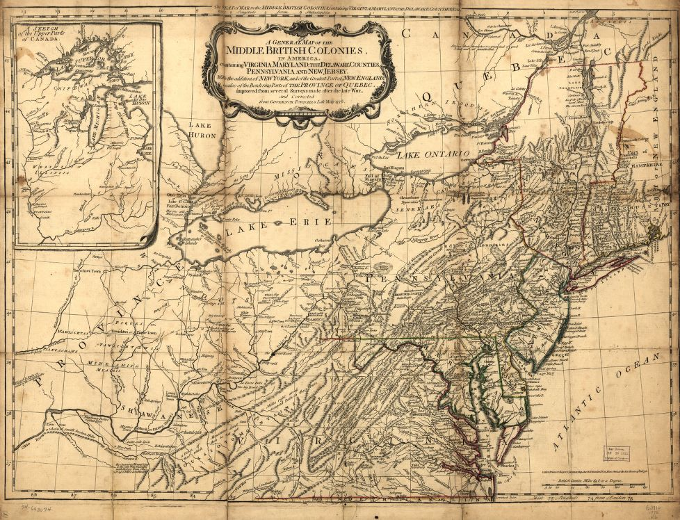 1776 map of the american colonies