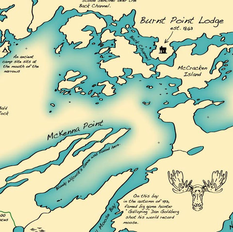 Burnt Point Lodge Map