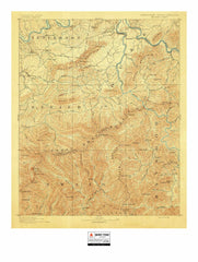Vintage National Park Maps