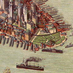 1908 Bird's Eye of Manhattan