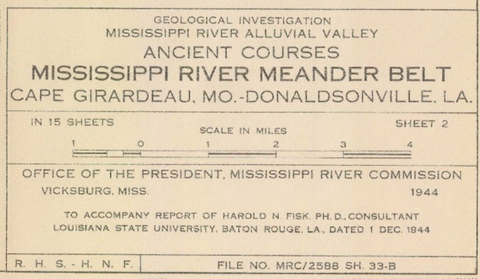 1944 Fisk's Mississippi Meander Maps