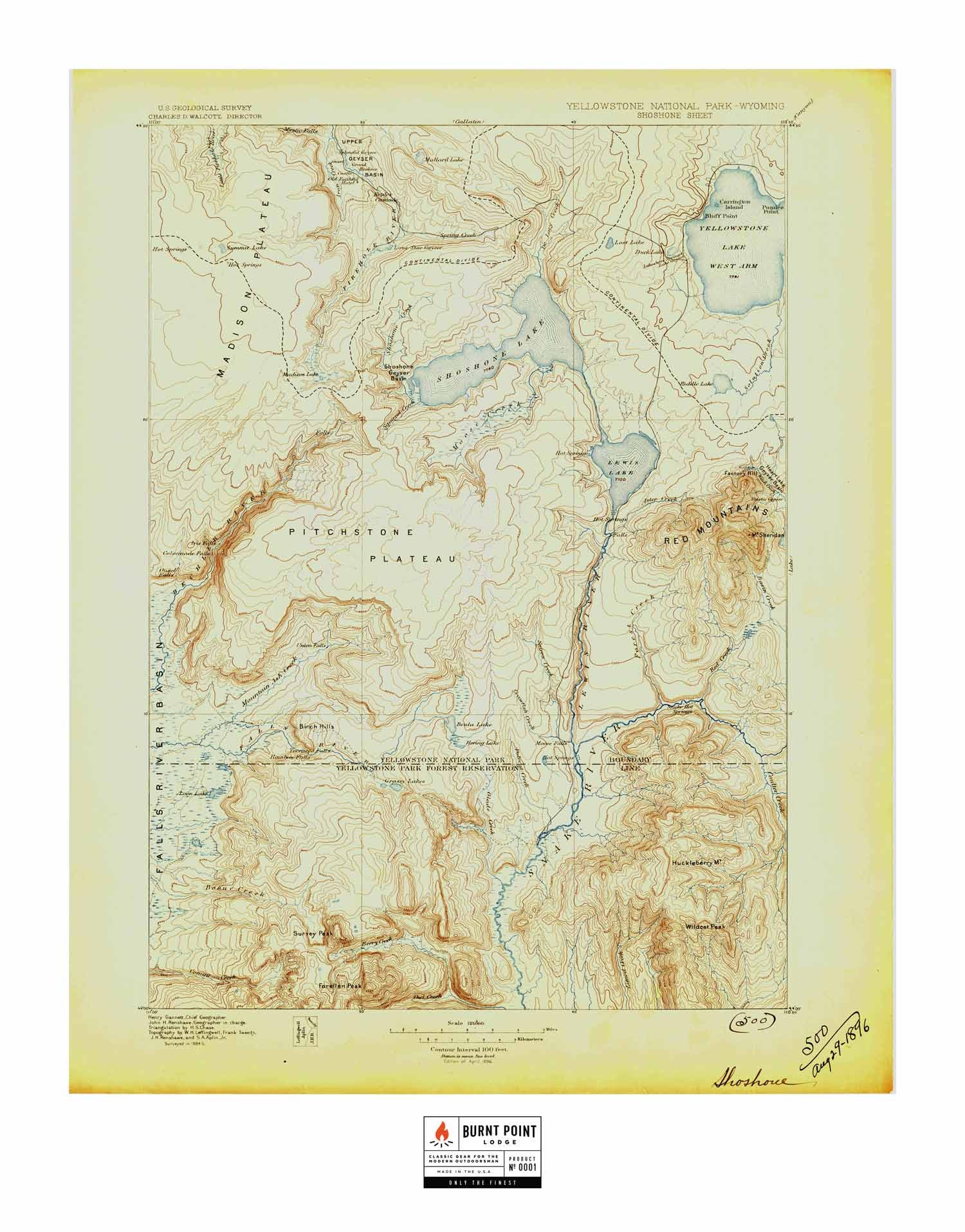 Historic US Topo Maps Of National Parks Burnt Point Lodge - National parks in us map