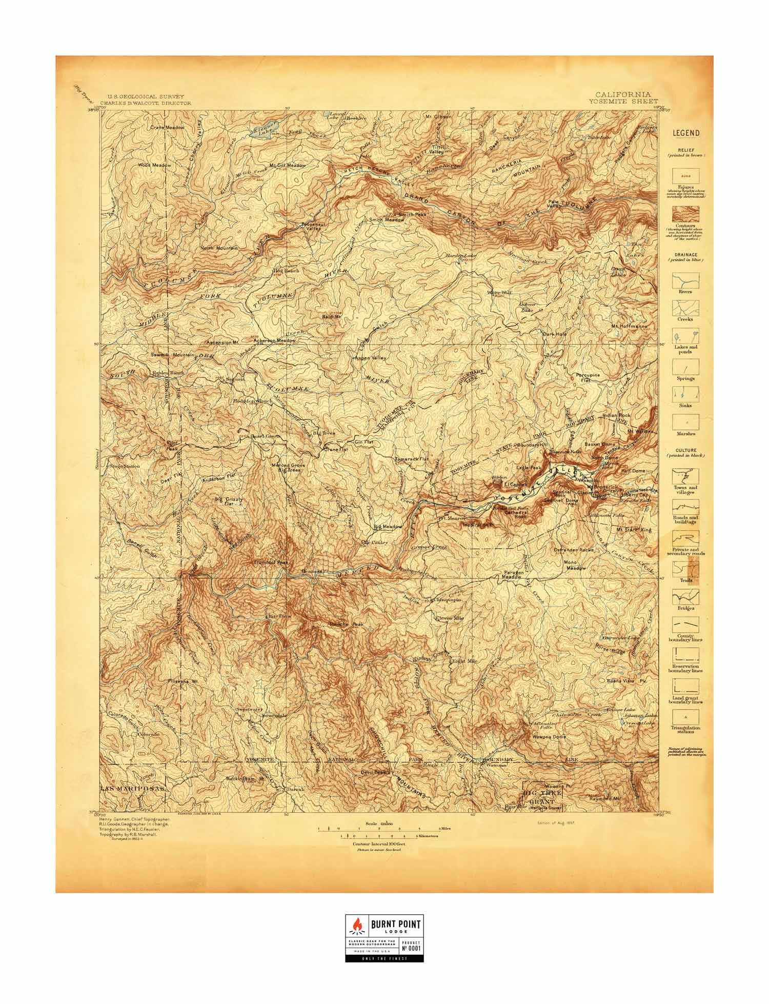 Silk Yosemite Map 1897