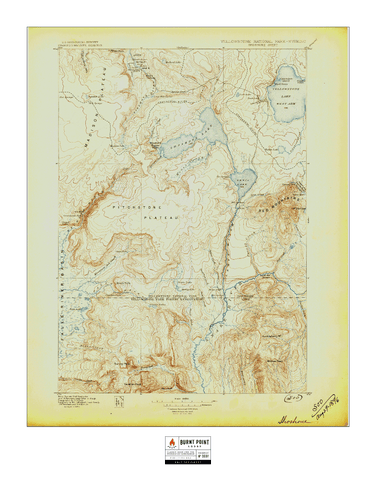 Vintage Map - Yellowstone National Park (1888)