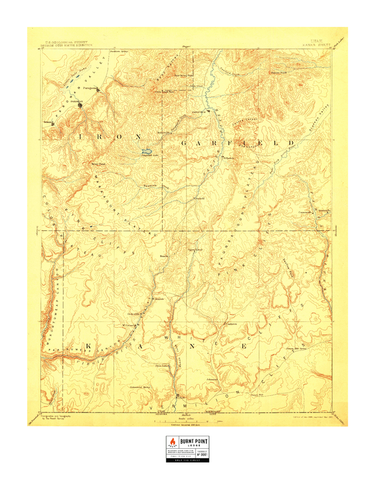 Vintage Map - Zion National Park (1886)