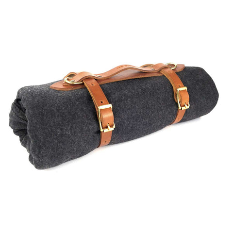 Wool Blanket & Leather Carrier