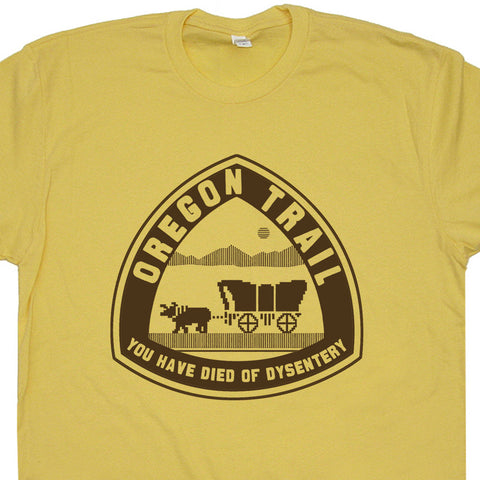 oregon trail t shirt vintage gamer shirt