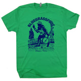 funny bigfoot t shirt bluegrass t shirt