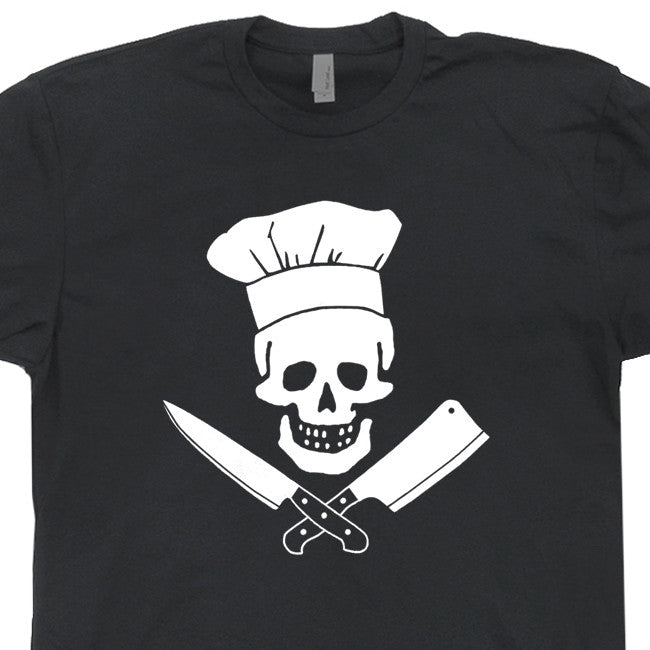 jolly roger chef t shirt skull t shirt