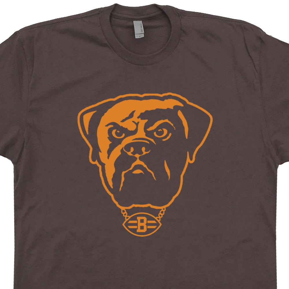Wholesale Vintage Cleveland Brown Shirt | Retro Cleveland Browns T Shirt  free shipping