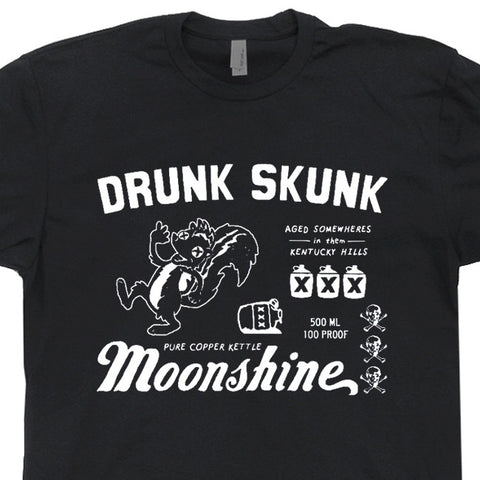 moonshine t shirts drunk skunk moonshine t shirt