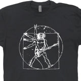 da vinci guitar shirt vitruvian man shirt fender guitar shirt