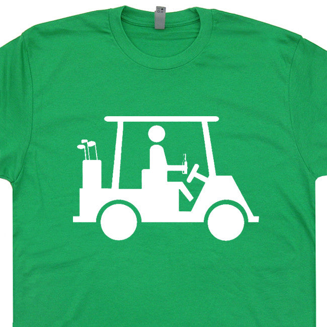 golf cart t shirt funny golf t shirt