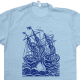 Giant Octopus T Shirt Vintage Octopus Shirt Sea Monster Shirt Kraken Shirt