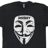 guy fawkes mask t shirt disobey t shirt
