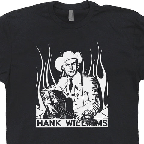 Hank Williams Sr. T Shirt Vintage Classic Country Outlaw Music Shirts