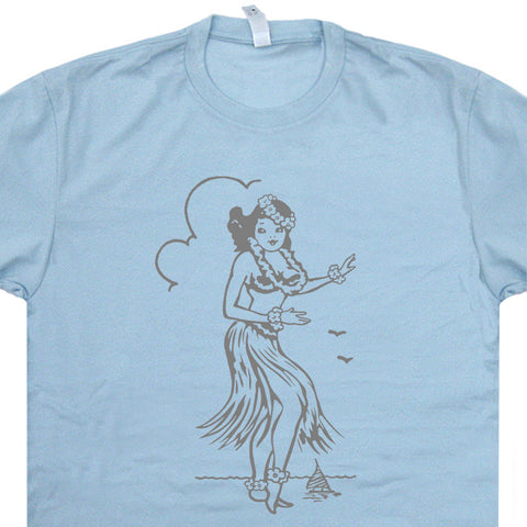 hula girl shirt tiki bar shirt
