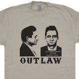 johnny Cash Mugshot T Shirt Outlaw Country Music Shirts