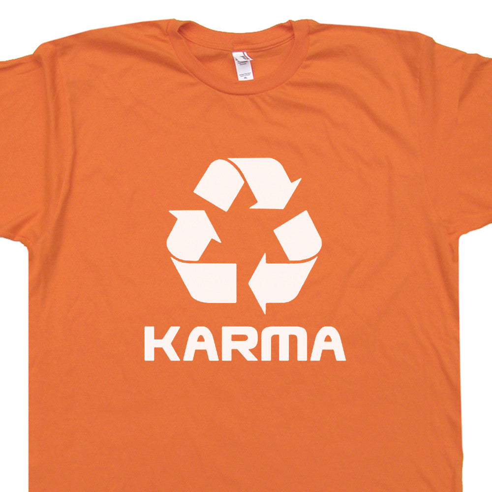 karma t shirt recycle logo shirt