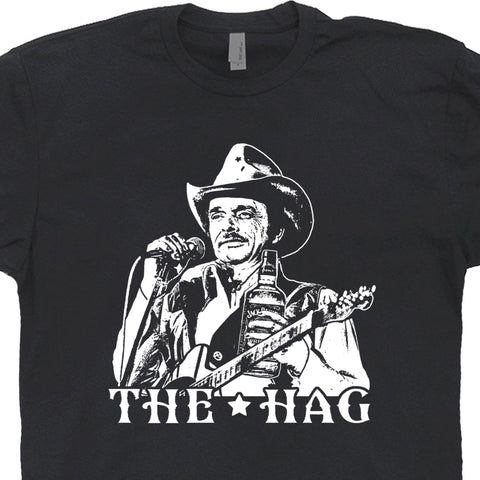 Merle Haggard T Shirt The Hag Outlaw Country Music Tee Shirts