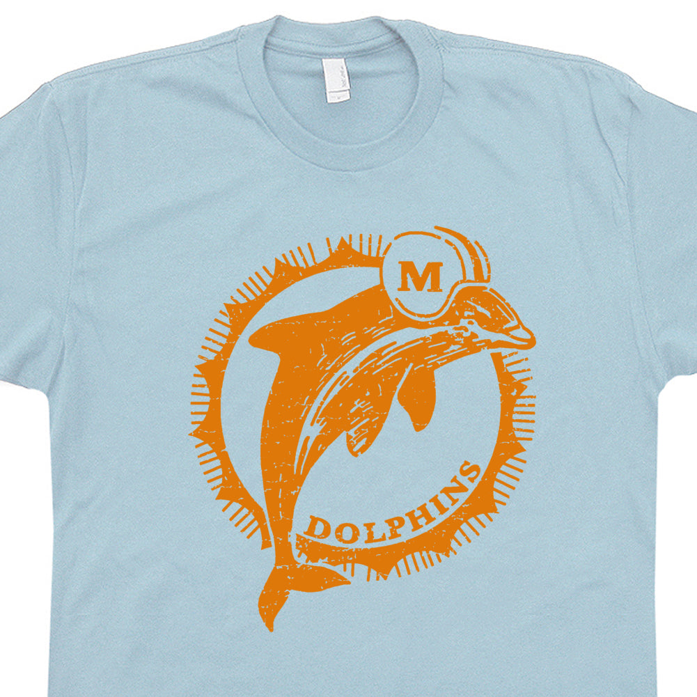promo code c7bcf dd711 Miami Dolphins Shirt Vintage Miami Dolphins T Shirt Retro Dolphins Logo  Graphic Tee