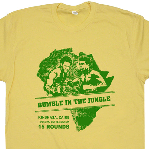 Muhammad Ali T Shirt Rumble In The Jungle Poster Vintage Boxing Tee