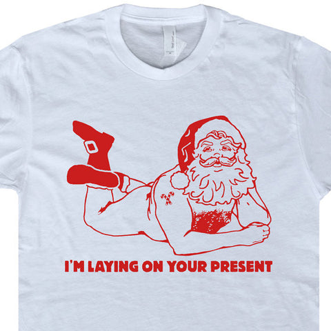 naked santa clause t shirt naughty christmas