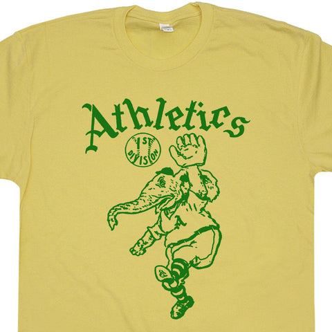 Oakland A's T Shirt Vintage Athletics Elephant Logo Graphic Tee