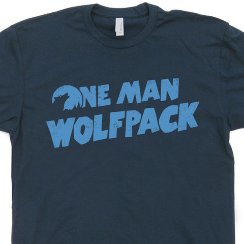 one man wolf pack t shirt zach galifianakis t shirt