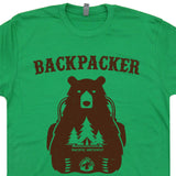 backpacker bear T shirt vintage camping t shirt
