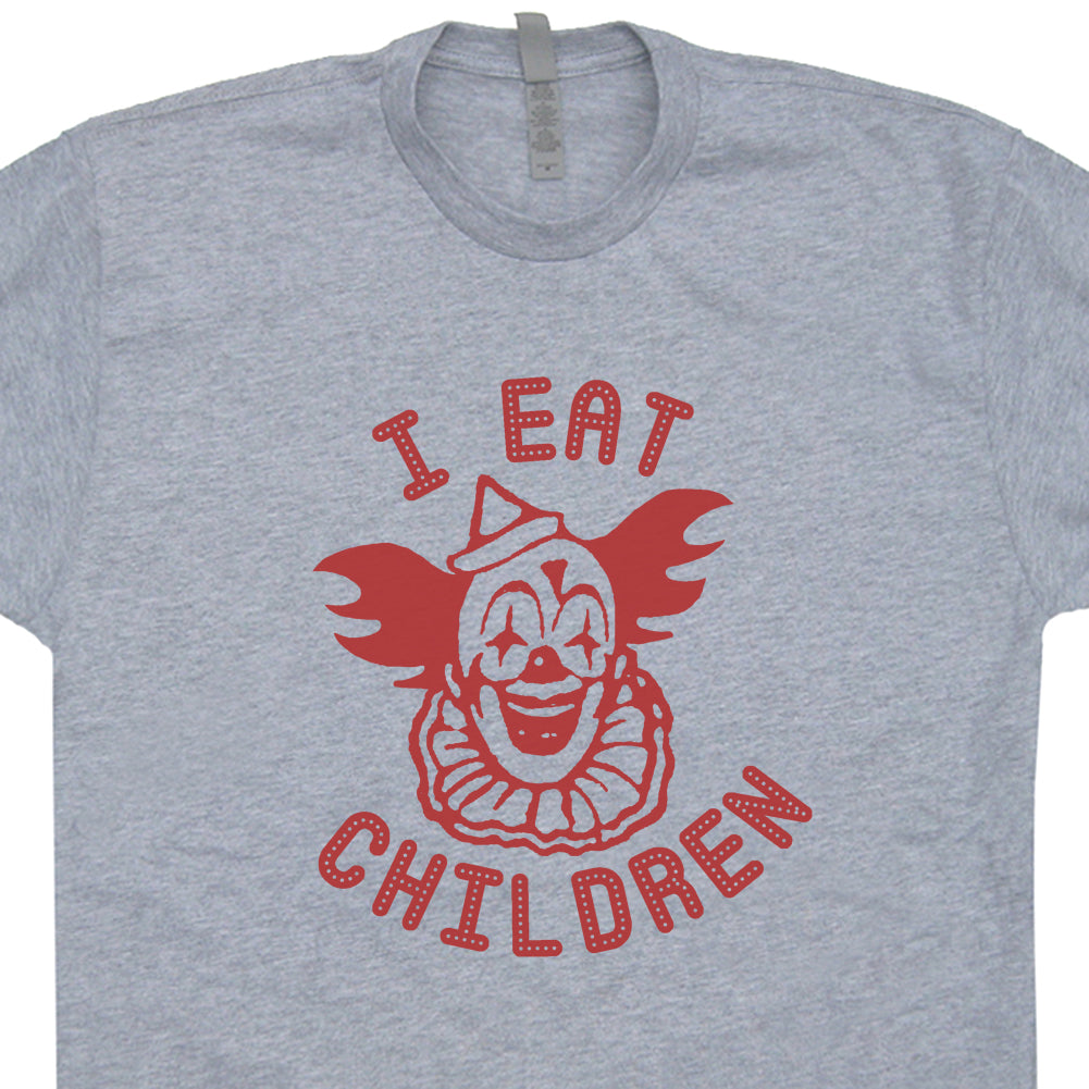 creepy clown shirt i eat children