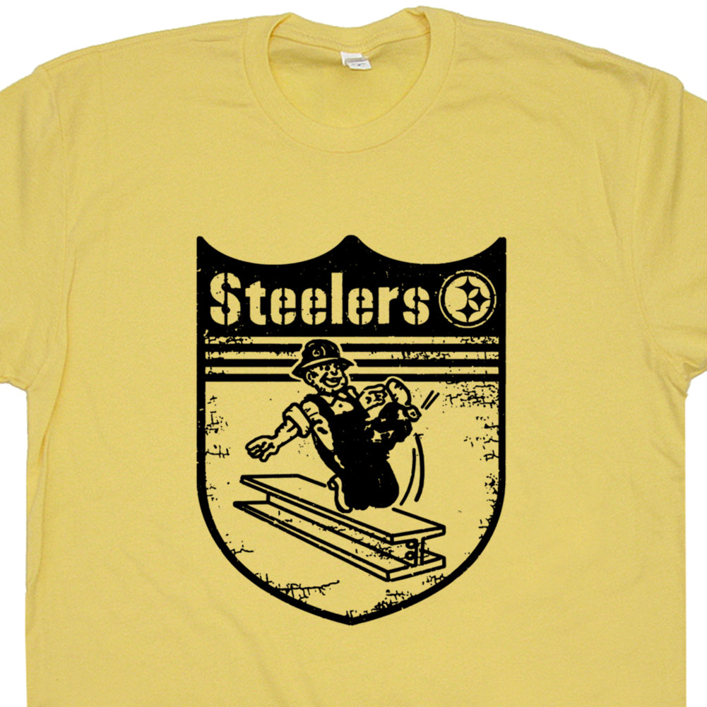 Vintage Pittsburgh Steelers Shirt Retro Pittsburghs Steelers Logo T Shirt Throwback Steelers Tee