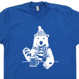 polar bear t shirt funny beer t shirts