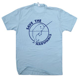 save the narwhals t shirt vintage whale t shirt