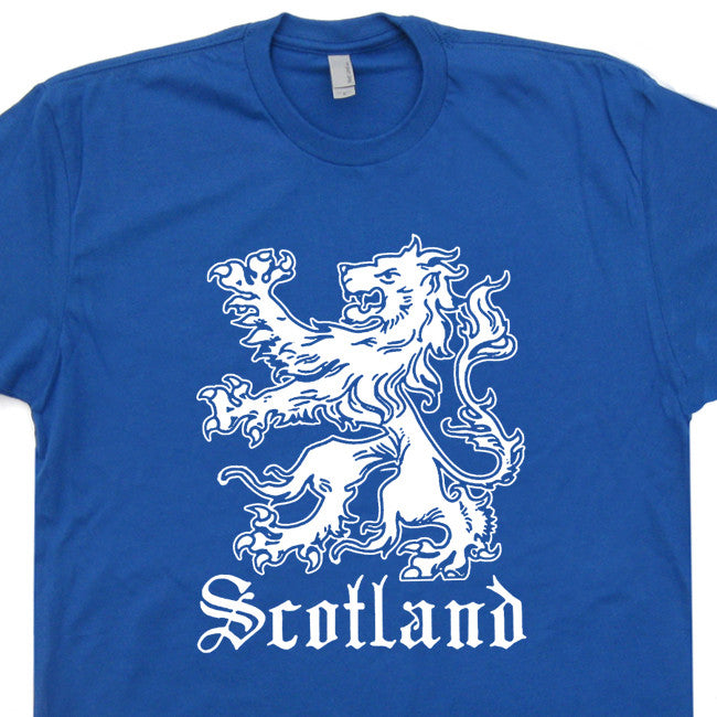 scotland soccer t shirt scottish crest t shirt