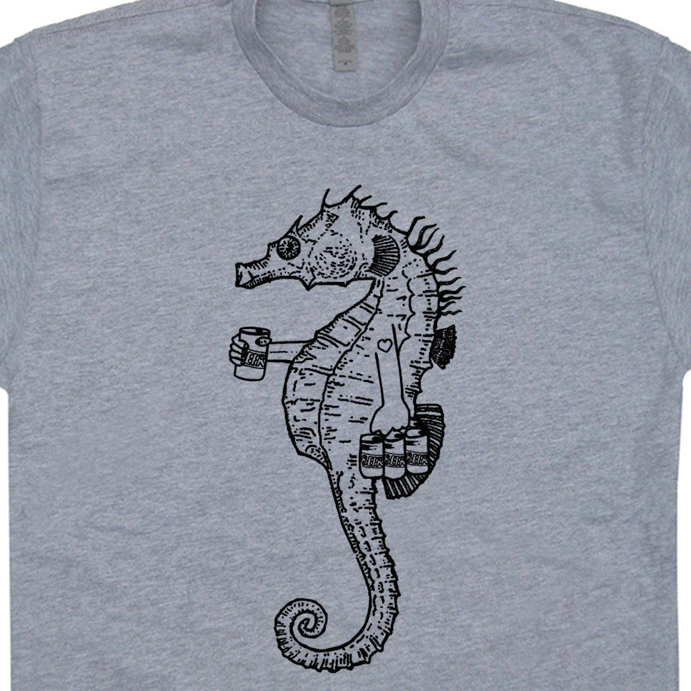 Cute Seahorse T Shirts Funny Beer T Shirts
