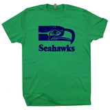 seattle seahawks vintage logo t shirt