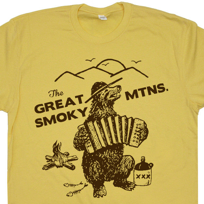 Great Smoky Mountains T Shirt National Park Shirt Smokey The Bear Shirt