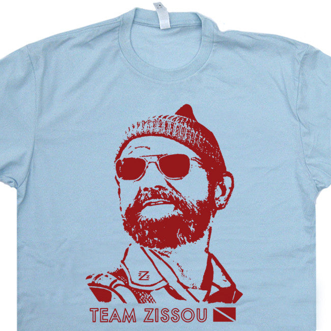 Team Zissou T Shirt The Life Aquatic t Shirt Bill Murray t Shirt