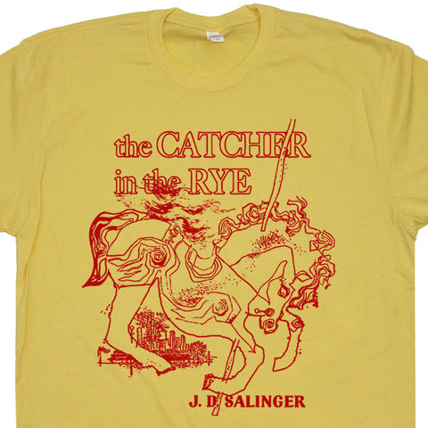 the catcher in the rye t shirt vintage literature t shirts