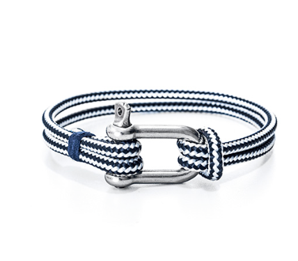 Men's Nautical Rope and Shackle Bracelet. Gift Box and Free Shipping!