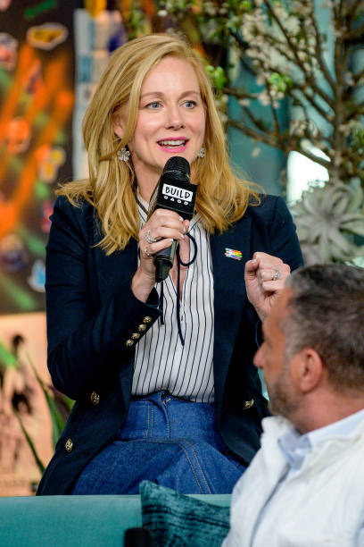 Laura Linney wearing Colette Jewelry to AOL Build Series 06.03.19
